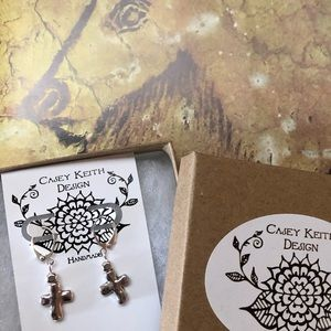 Casey Keith Design Jewelry - Your Cross Earrings